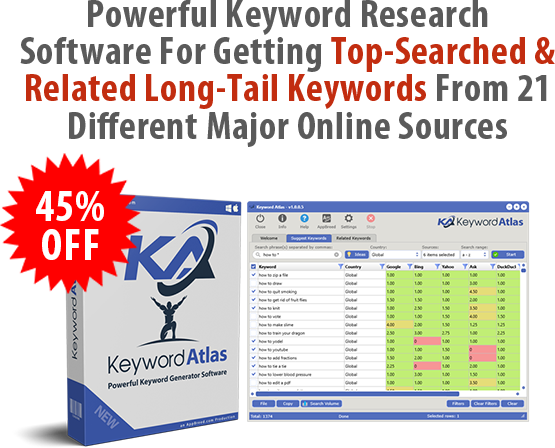 Keyword Atlas 45% Off Discount