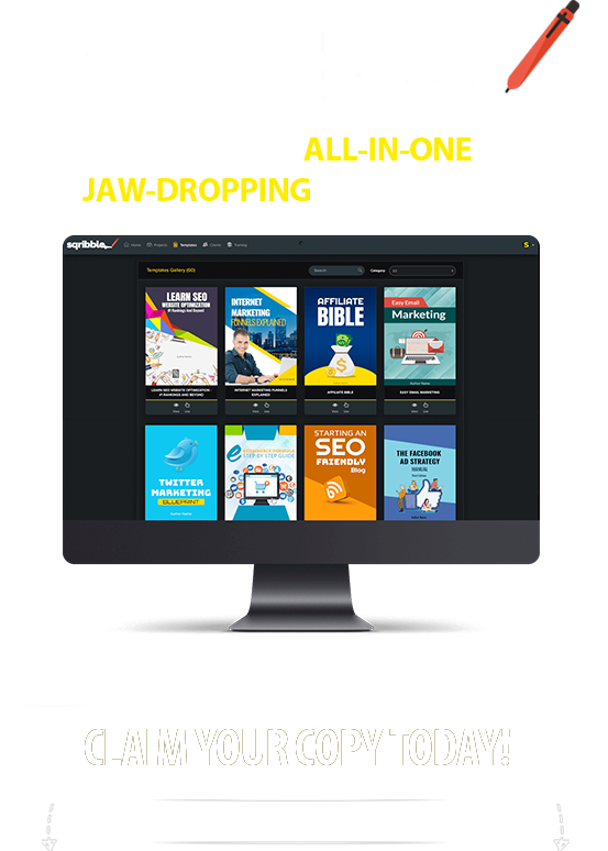 Sqribble All-In-One Software For JAW-DROPPING eBooks On Demand!